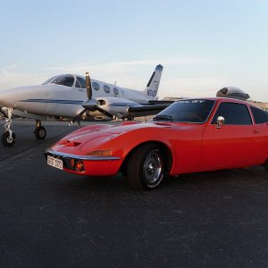 My '72 Opel GT and '70s era Cessna