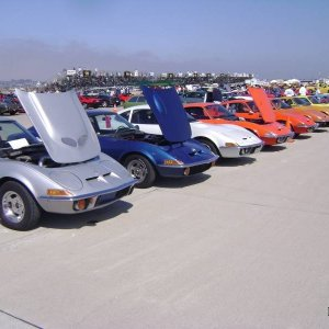The San Diego Opel Club made a great showing with nine GTs in Coronado