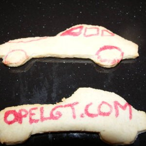 Opel GT Christmas cookies